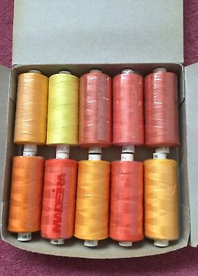 10 Reels Of Madeira Tanne  Cotton Machine Embroidery Thread