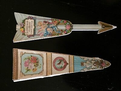 Fan Language of Flowers New Year Card, c.1890.