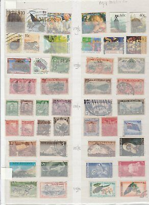 159 Selection Of Stamps New Zealand