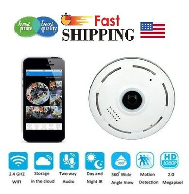 360º Mini Smart WIFI Panoramic IP Camera Wireless Home Security 1080P HD Night