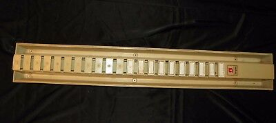 Vintage Simplex Time Card Rack 20 Slot Punch Card Holder Wall Organizer