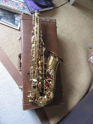 Arbiter Jazz Alto Saxophone with fitted case and strap. Good condition.