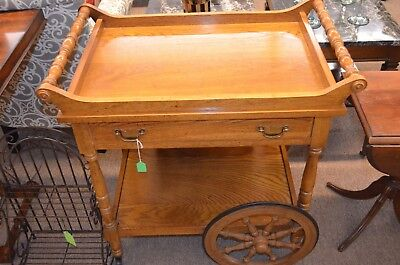 2 Wheel Tea Cart with Drawer Dining Formal Kitchen Stand from an Estate