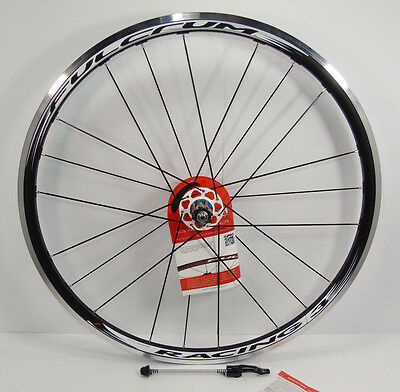 Nos Fulcrum Racing 3 Rear Bicycle Wheel, 700c, Blk/White, Clincher, Campag,New