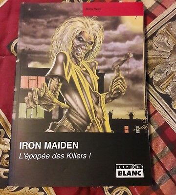 !!iron maiden book french rare killers