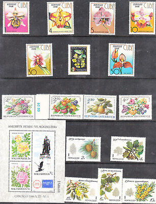 Collections Of  Flower Sets&singles   Mnh Vf
