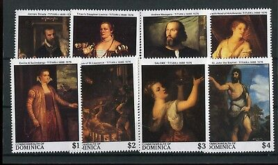 Dominica QEII 1988 Paintings Titian SG1172/79 MNH