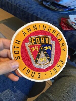 Rare 1953 Ford Automotive Auto 50th Anniversary Advertising Patch