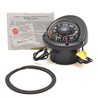 Ritchie Boat Compass HF-743-OEM | Ranger 3 5/8 Inch Black 9819102