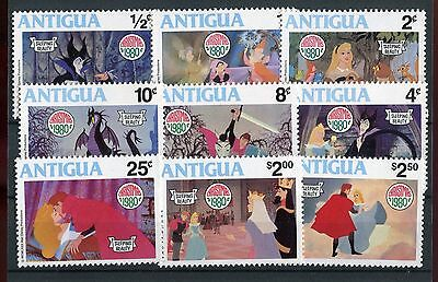 Antigua QEII 1980 Christmas Disney Sleeping Beauty SG671/9  MNH