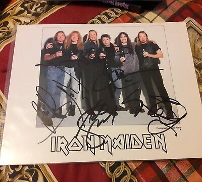 Iron  maiden official fc postcard signed!