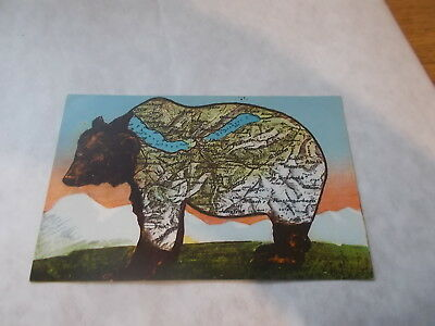 "ATTRACTIVE EDWARDIAN SWISS NOVELTY BEAR ""MAP"" POSTCARD c 1905  VGC. UNUSUAL"