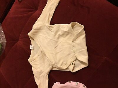 Colored organic baby clothes