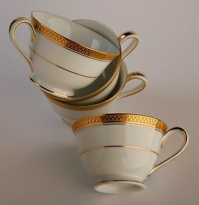 Noritake bonechina   CUPS X 4   with Gold Decoration
