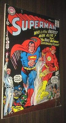 SUPERMAN #199 -- August 1967 -- 1st Superman Vs Flash Race -- VG Or Better
