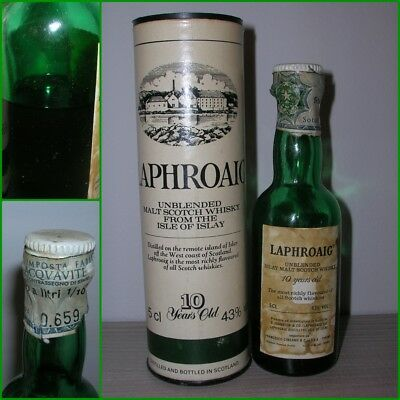 ANTICA MINIATURA COLLECTION WHISKY LAPHROAIG MALT 10 YEARS OLD cl.5 gr.43 box