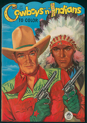 """UNCOLORED """"Cowboys 'n' Indians"""" #1529 Merrill 1956 (6050)"""