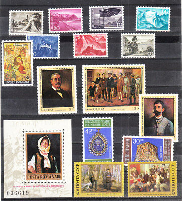 Collection Of Painting Sets&singles   Mnh Vf