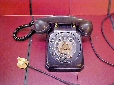 Vintage Bakelite Western Electric Rotary Dial Desk Telephone For Restore