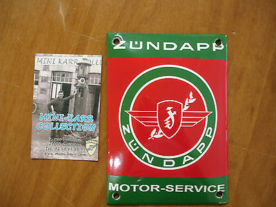 PLAQUE EMAILLEE BOMBEE LOGO ZUNDAPP MOTOR SERVICE enamel tin sign email