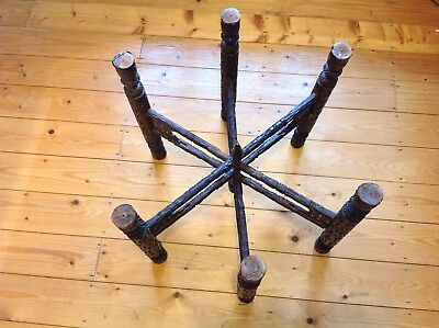Antique Folding Table Legs For Brass Tray Top