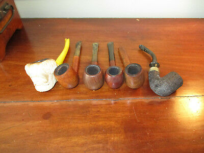 LOT OF VINTAGE SMOKING PIPES - Orlik Deluxe, Drycell, Manshire, Imperial