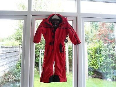 Boys Red Poivre Blanc (France) Ski Suit Age 2 Years