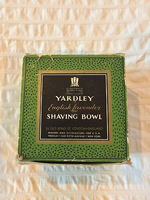 Vintage Yardley of London English Lavender Shave Soap ams Bowl New in Box Unused