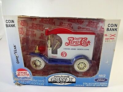 Gearbox Collector COIN BANK Pepsi-Cola 1912 FORD Delivery Truck New in Box