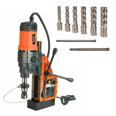 """Cayken® KCY-48-2WDO 1.8"""" Magnetic Drill Press with 7PC 2"""" Small Annular Cutters"""