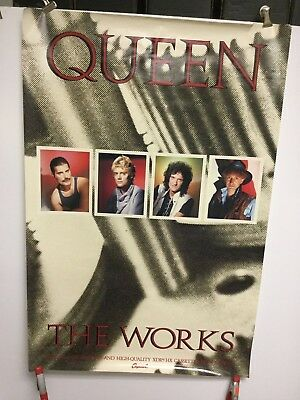 "Queen ""the works"". 1984 Capital records promo poster"