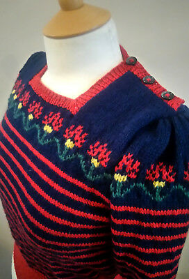 1940s Style Hand Knit Jumper