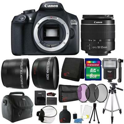 Canon EOS 1300D / T6  DSLR Camera w/ 18-55mm Lens and Ultimate Accessory Bundle
