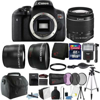 Canon EOS Rebel T6 18MP Digital SLR Camera 18-55mm Lens and 16GB Accessory Kit