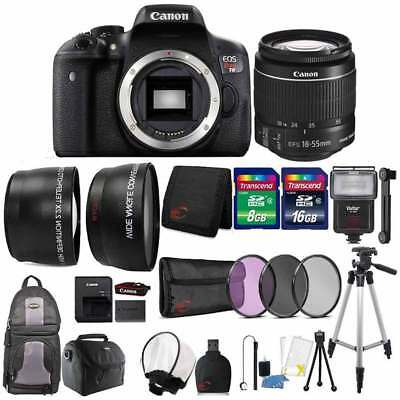Canon EOS Rebel T6 18MP DSLR Camera with 18-55mm Lens and 24GB Accessory Bundle