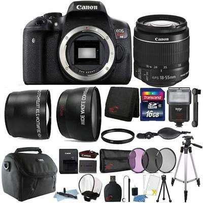 Canon EOS Rebel T6 18MP DSLR Camera with 18-55mm Lens and 16GB Accessory Bundle