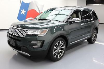 2016 Ford Explorer Platinum Sport Utility 4-Door 2016 FORD EXPLORER PLATINUM ECOBOOST AWD PANO ROOF NAV #B26415 Texas Direct Auto