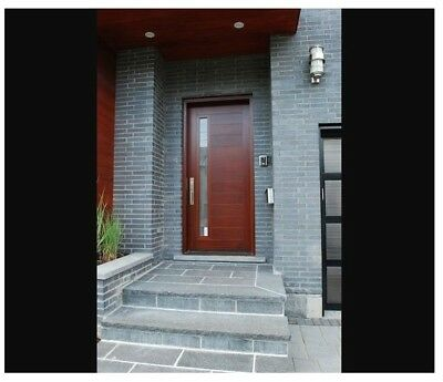 Custom Made Double Exterior Front Entry Single Wooden Glass Door - ITO DOORS