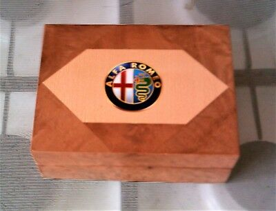 Alfa Romeo - Solid Wood Jewellery Box