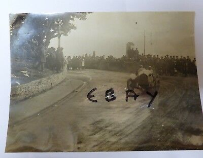 Rare Photograph 1922 Tourist Trophy Race Isle Of Man 3 Litre Wo Bentley