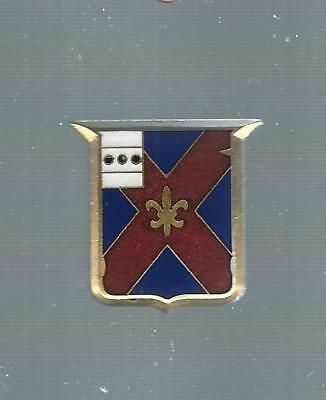 111Th  Infantry Asmic # 111 A-2  Eby  Hall Mark   Pin Back Crest/ Di