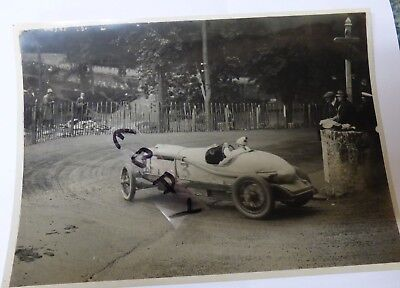 Rare Photograph 1922 Tt Race Isle Of Man 3 Litre Wo Bentley Governors Bridge