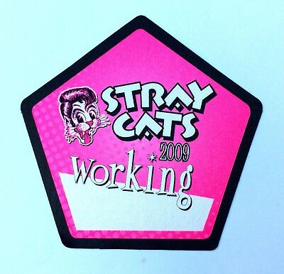 STRAY CATS 2009 Pink Tour Working Pass. BRIAN SETZER!!