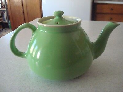 Vintage HALL Green Covered Teapot