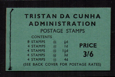 Tristan Da Cunha 1960 Booklet - Black on Green Cover (1960 stamps)