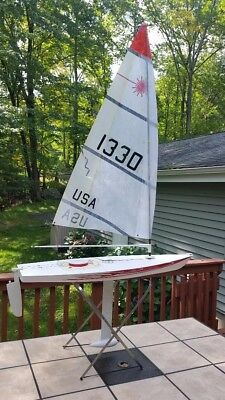 RC LASER Sailboat Radio Controlled Ex Condition with Accessories