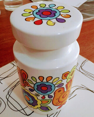 LORD NELSON POTTERY RETRO FLOUR SHAKER GAYTIME 60s 70s EXCELLENT Vintage