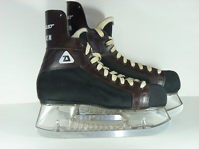 Vintage Daoust Tiger Ice Hockey Skates w/ Clear Tuuk Size 9 GUC