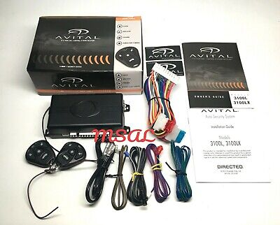 Avital 3100Lx 3 Channel Car Alarm Security System W/ 2 Remotes New