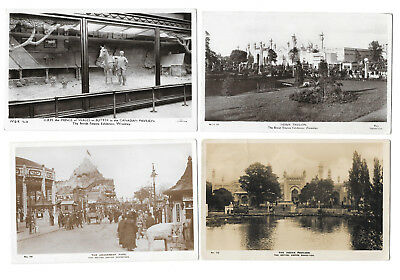 BRITISH EMPIRE EXHIBITION 1924 x 5 CARDS - OLD RP PCs - LONDON - 5 CARDS